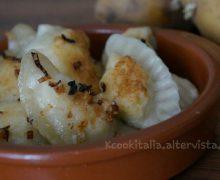 Ravioli russi farciti con ricotta e patate