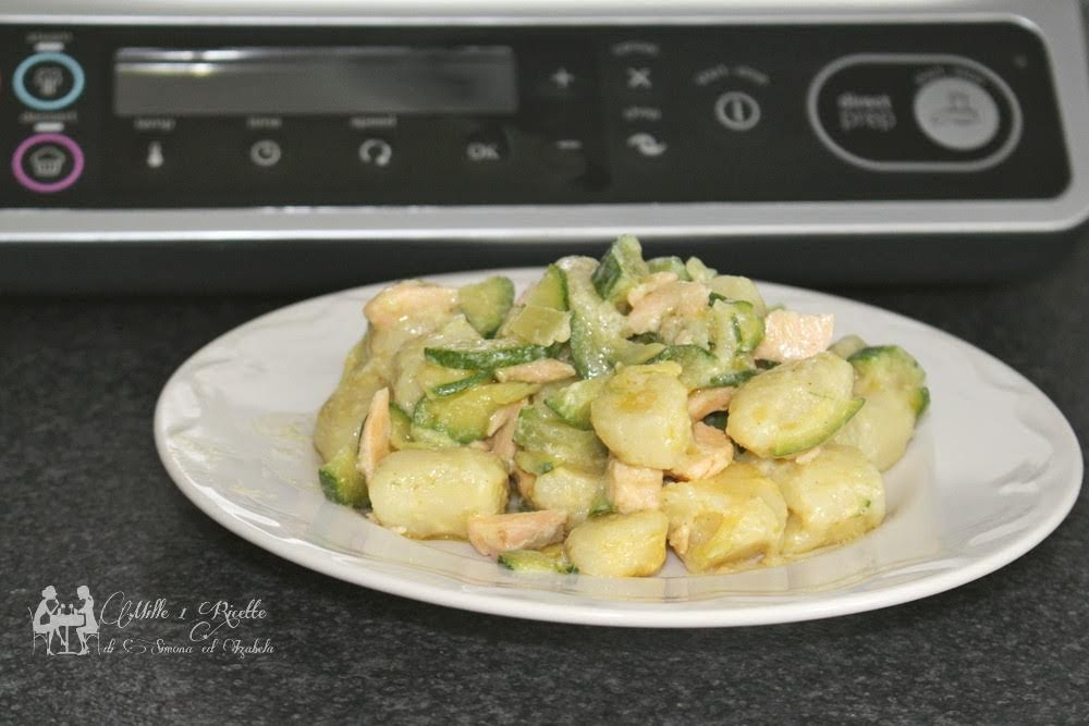 Pranzo Per Marito : Ricette kcook multi smart pepite di patate con zucchine e salmone fresco